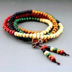 CB001  multicolor 8mm 108 sandalwood beads japa rosary prayer mala bracelet  Tibetan Buddhist meditation US $1.99