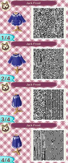Animal Crossing New Leaf: Jack Frost QR Code by TofaTheDragonRider.deviantart.com on @deviantART