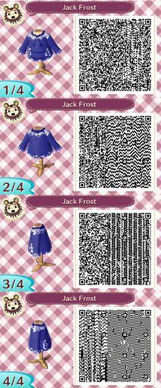 Animal Crossing New Leaf: Jack Frost QR Code by TofaTheDragonRider.deviantart.com on @deviantART