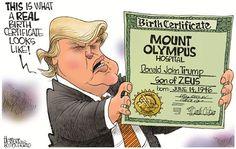 Political Cartoons by Jerry Holbert  Crazy Man.