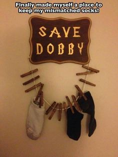 Lol I need to do this! Save dobby!