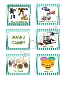 Toy Label Printables. Print them out and laminate them to keep toys organized! Customizable!