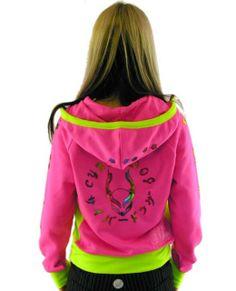 Lava Logo Hoodie 'Pink x Fluo / Neon Green - back