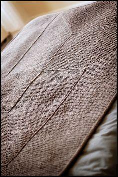 Elizabeth Zimmerman garter stitch blanket.