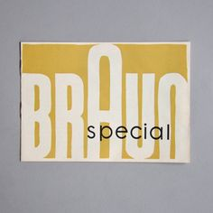 All sizes | Braun special DL 3 brochure |