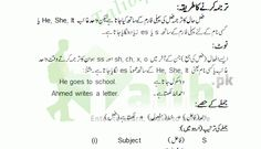 Learn Present Indefinite Tense In Urdu To English PDF Exercise Examples for Simple, Negative, and Interrogative Sentences Practice To Explain The Sentences Basic English Sentences, Kinds Of Sentences, English Words, English Grammar Tenses, English Vocabulary, Past Indefinite Tense, Grammar Book Pdf, Tenses Exercises, Present Continuous Tense