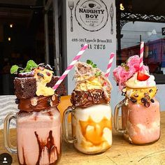 Freakshakes!! Just in case you don't get enough calories at Xmas. Get to Naught…