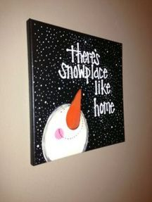 Christmas Paintings On Canvas Easy Ideas In Home 9