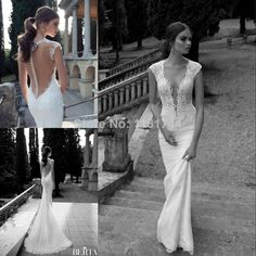 Cheap dress victoria, Buy Quality lace strapless wedding dress directly from China lace a line wedding dresses Suppliers:Hot Sale Sexy Sheer Illusion Applique Neckline Long Sleeve Open Back Bridal Gowns Custom Made Lace Mermaid Wedding Dress