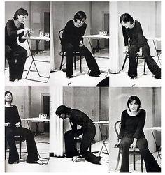 Rhythm 2 by Marina Abramovic, circa 1974 (via mikkipedia)
