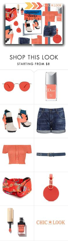 """Little Boots"" by kelly-floramoon-legg ❤ liked on Polyvore featuring Post-It, Garrett Leight, National Geographic Home, Christian Dior, UN United Nude, Citizens of Humanity, River Island, M&Co, Gucci and polyvorecontest"