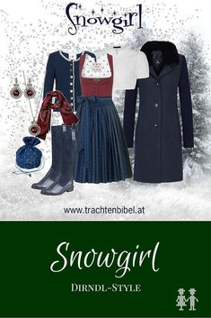Der Snowgirl Dirndl-Style mit einem Dirndl von Julia Trentini zum Nachshoppen macht Sie fit für den Schnee und ist dabei auch noch wunderschön!