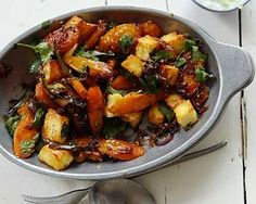 Quick & Easy Vegetarian Recipes - Spiced Roasted Carrots with Paneer - Click Pic for 21 Healthy Vegetarian Recipes Vegetarian Magazine, Vegetarian Cookbook, Vegetarian Dinners, Vegetarian Recipes Easy, Veggie Recipes, Indian Food Recipes, Cooking Recipes, Healthy Recipes, Good Food Channel