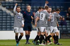 Darren Miller acknowledges the fans after scoring the first goal against Montrose