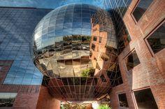 Twin Spheres – Esferas Gemelas, Campo de las Naciones, Madrid HDR by marcp_dmoz, via Flickr