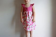 let's fly away flutter sleeve dress / pdf sewing pattern 18 months to 5 years EASY SEWING. $5.95, via Etsy.