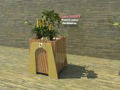"""Línea """"LIGHT"""". Jardinera de soporte lateral extendido. Combinacion de terminacion superficial y caja en colores o tintados poliuretánicos. Dimesiones: 64/70/65"""