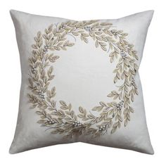 Rizzy Home One Of A Kind Cotton Duck Ivory Pillow 20 inch X 20 inch, Beige