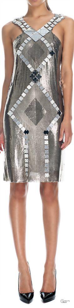 Versace  Rare Metal Mesh and Mirror Dress