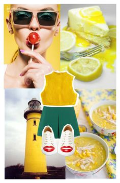"""Yellow shadows"" by lyricsarewords ❤ liked on Polyvore featuring Valentino and Charlotte Olympia"