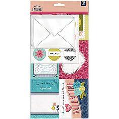 BasicGrey J'ADORE Mini Valentine Kit scrapbooking cards stickers envelopes LOVE