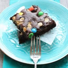 Double chocolate Chobani brownies