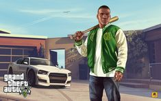 Official GTA 5 Boxart and other Artwork from Rockstar Games. Gta 5 Pc, Gta 4, Franklin Gta 5, Rockstar Games Gta, Gta 5 Mobile, Gta 5 Games, Playstation, Grand Theft Auto Series, Gta San Andreas