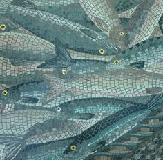 Fish Mosaic - Canary Wharf by curry15, via Flickr