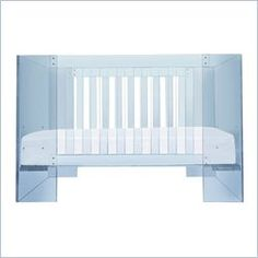 Nursery Works Vetro Crib in Blue Acrylic Price Nursery Works, Girl Nursery, Acrylic Furniture, Baby Nursery Furniture, Baby Cribs, Little Babies, Toddler Bed, Projects To Try, Flooring