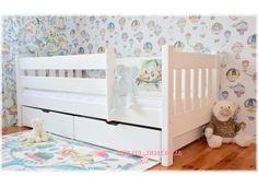 Łóżka dla dzieci: chłopców i dziewczynek - białe, drewniane z barierką oraz podwójne (6) - Sklep Bedlayn
