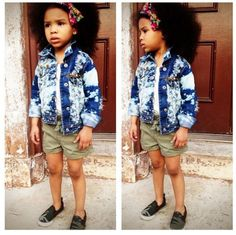her outfit is adorable but the afro just makes this pictures so much better