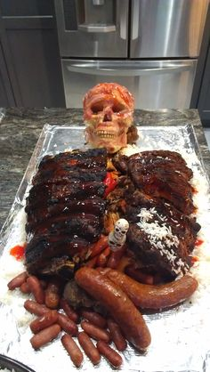 Meat Man With Maggots Halloween Food Pinterest Meat