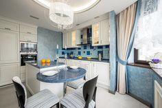 Кухня в голубых тонах. - Кухня – сердце дома | PINWIN - конкурсы для архитекторов, дизайнеров, декораторов