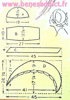 Sensational Tips Sewing Pattern Ideas. Brilliantly Tips Sewing Pattern Ideas. Wrap Pattern, Pattern Cutting, Pattern Making, Hat Patterns To Sew, Vintage Sewing Patterns, Sewing Hacks, Sewing Projects, Patron Vintage, Motif Vintage