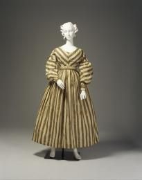 Dress  silk / muslin / metal   maker unknown  thought to have been worn by Elizabeth Marsden, Sydney, New South Wales, Australia  1825 - 1835   Powerhouse Museum Collection