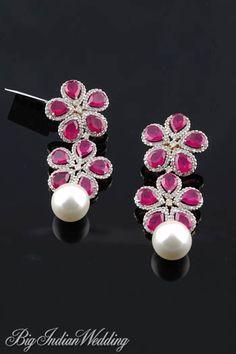 Amaris Jewels rubies and pearl earring