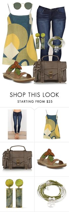 """""""Casual"""" by alice-fortuna on Polyvore featuring YMI, Marc Jacobs, Proenza Schouler, Spring Step, Bounkit, Lizzy James and Ray-Ban"""