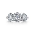 Tiffany & Co. | Item | Tiffany Circlet ring of diamonds in platinum. | United States size 7