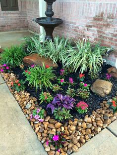 32 Awesome Spring Garden Ideas For Front Yard And Backyard. If you are looking for Spring Garden Ideas For Front Yard And Backyard, You come to the right place. Below are the Spring Garden Ideas For . Front Yard Landscaping Design, Garden Yard Ideas, Outdoor Gardens, Small Backyard Landscaping, Rock Garden Landscaping, Plants, Front Yard Garden, Backyard, Front Yard Garden Design