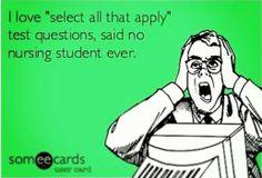 Nclex nurse nursing school student study rn funny humor
