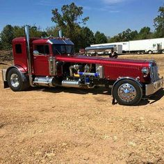 One of my customer hand built street rod truck! He has a trike and a motorcycle all made with a semi design.