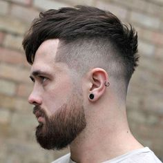 High Fade + Textured Fringe + Beard