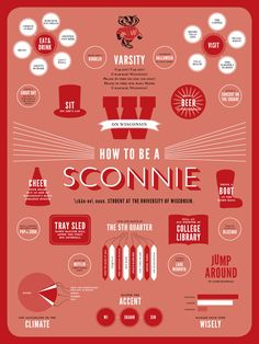 How to be a Sconnie  \skän-ne\ noun. Student at the University of Wisconsin.    Never pulled an all-nighter. Otherwise, I've completed the list!