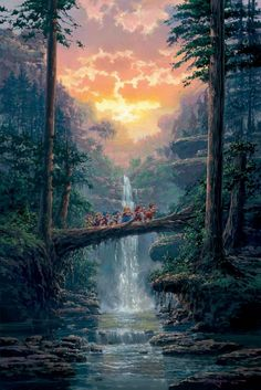 """The Journey Home"" by Rodel Gonzalez | Disney Fine Art | Disney's Snow White and the Seven Dwarfs"