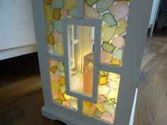 """Mosaik-Laterne """"Seeglas"""" von Mosaikhandwerk auf DaWanda.com"""