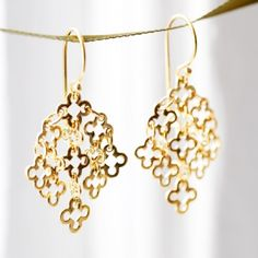 Earrings - NEW Dinny Hall Talitha Earrings gold Dinny Hall, Gold Earrings, Drop Earrings, Red Shop, Cool Things To Buy, Stuff To Buy, Workwear, Bangles, Sparkle