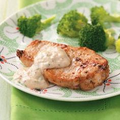 Pork Chops with Parmesan Sauce for Two - I make this all the time and it's super yummy!!!