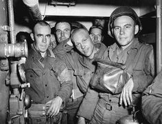 Bound for Normandy: U.S. Army troops on board a Coast Guard-manned LCI(L), the night of 5 June 1944.