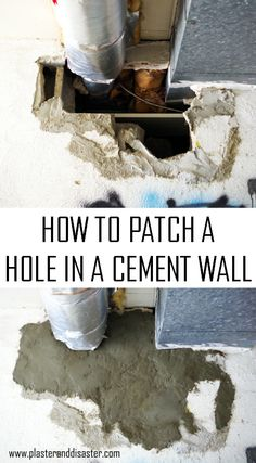 How To Fix A Hole In Cement Wall