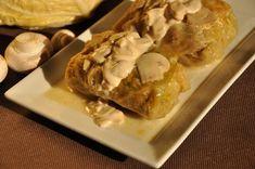 Gołąbki z kaszą i pieczarkami - niebo na talerzu Dumplings, Ice Cream, Cheese, Dinner, Food, Sherbet Ice Cream, Dining, Meal, Dinners